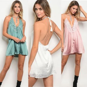 Other - lingerie dress, sleeveless slip dress with tie fro